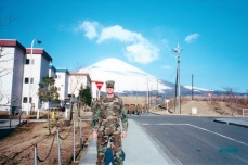 Camp Fuji, Japan, Winter 2001. Within the year al-Qaeda would let the US know the world had changed.